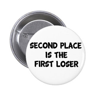 Second Place Pinback Button