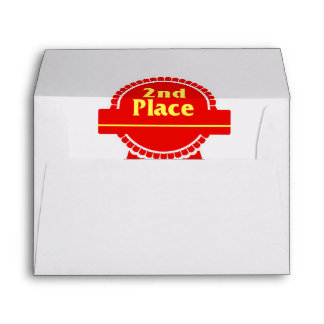 Second Place Red & Gold Ribbon Envelope