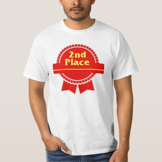 Second Place Red & Gold Ribbon T-Shirt