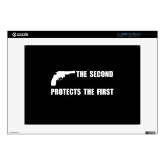 Second Protects First Laptop Decal