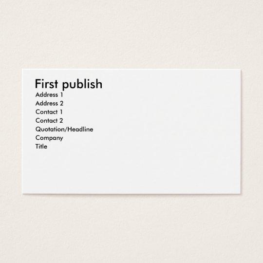 second publish business card