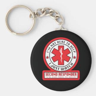 Second Responder Round Keychain