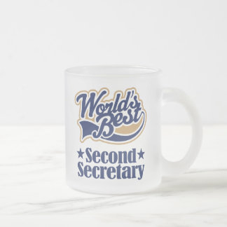 Second Secretary Gift For (Worlds Best) 10 Oz Frosted Glass Coffee Mug