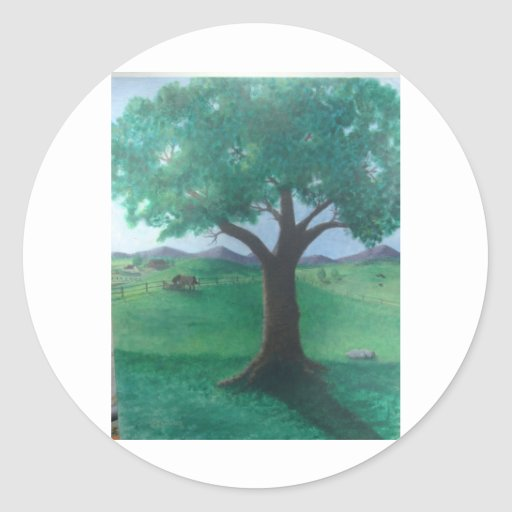 Second set in the Nature Series of art images. Classic Round Sticker