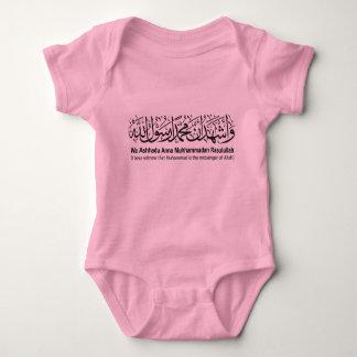 Second Shahada Infant Creeper, Pink Baby Bodysuit
