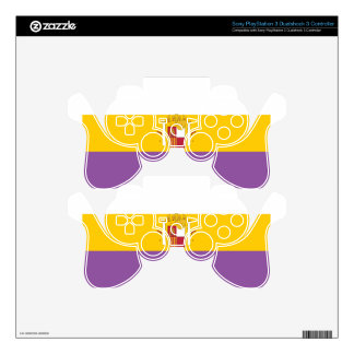 second-spanish-republic-Flag Skin For PS3 Controller