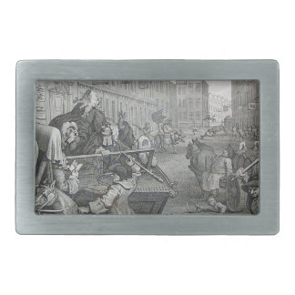 Second stage of cruelty by William Hogarth Belt Buckle