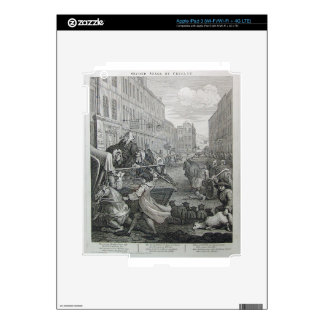 Second stage of cruelty by William Hogarth Skins For iPad 3