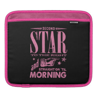 Second Star to the Right iPad Sleeves