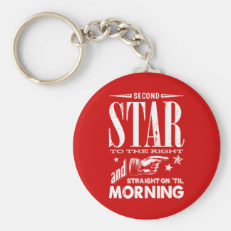 Second Star to the Right Keychain