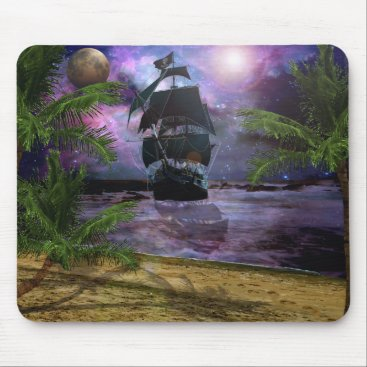 Beach Themed Second star to the right mouse pad