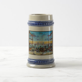 Second star to the right. Peter Pan inspired art Beer Stein