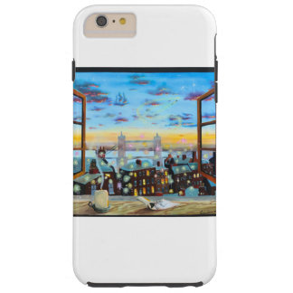 Second star to the right. Peter Pan inspired art Tough iPhone 6 Plus Case