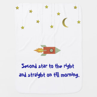 Second Star to the Right Swaddle Blanket