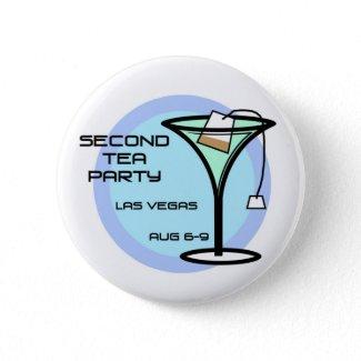 Second Tea Party Button, Full Logo button