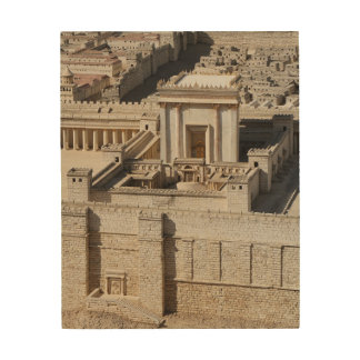 Second Temple Model, Jerusalem Wood Print