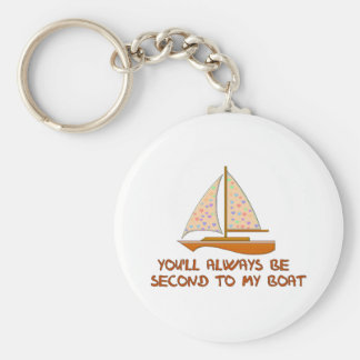 Second To My Boat Keychain