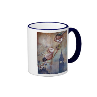 Second to the Right and Straight on 'till Morning  Ringer Coffee Mug