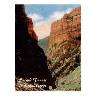 Second Tunnel in Royal Gorge Postcard
