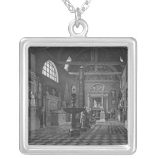 Second view of the introductory room silver plated necklace