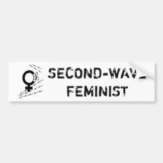 Second-Wave Feminist Bumper Sticker