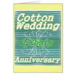 Second wedding anniversary ~ cotton card