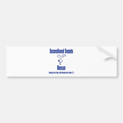 Secondhand Snoots Logo Front Bumper Stickers
