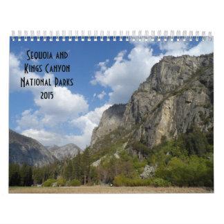 Secoya y parques nacionales 2015 de reyes Canyon Calendarios De Pared