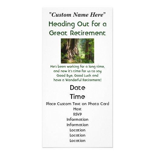 Secoyas de la invitación de la invitación del fies tarjeta fotografica personalizada