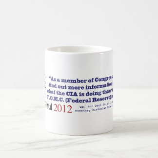 Secrecy Of The Federal Reserve System by Ron Paul Mugs