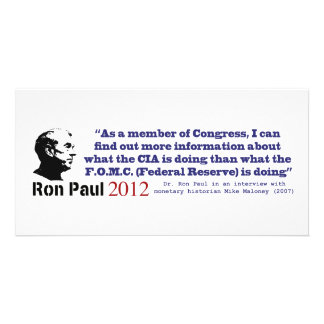 Secrecy Of The Federal Reserve System by Ron Paul Photo Greeting Card