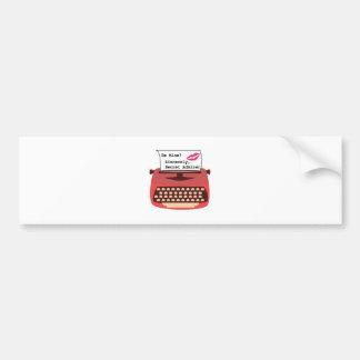 Secret Admirer Bumper Sticker