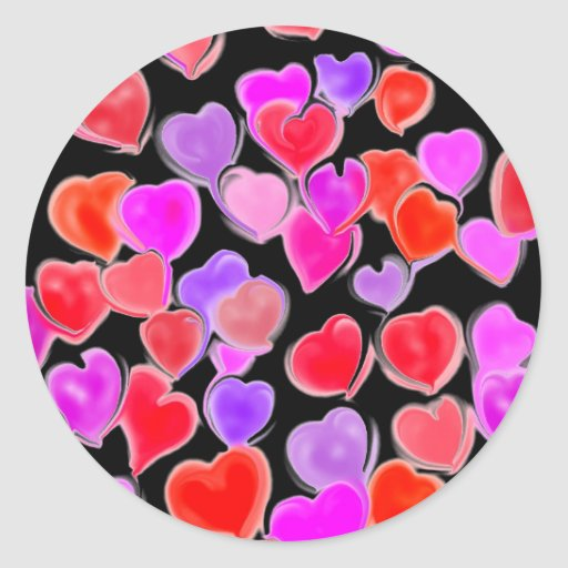 Secret Admirer Hearts stickers