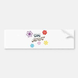 secret agent 69 flowers psychedelic retro bumper sticker
