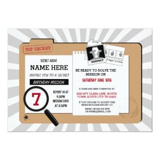 Gut gemocht Secret Agent Invitations & Announcements | Zazzle WU99