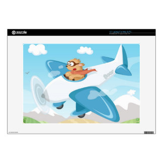 "Secret agent Boo flying a plane 15"" Laptop Decal"