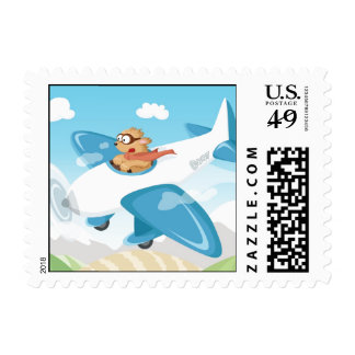 Secret agent Boo flying a plane Postage Stamps