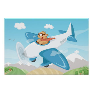 Secret agent Boo flying in a plane Poster