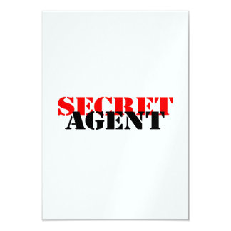 Secret Agent Card