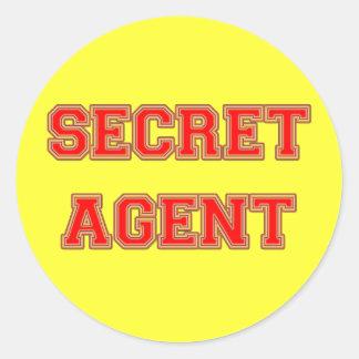 Secret Agent Classic Round Sticker