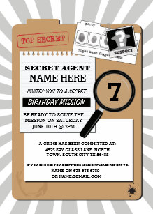 spy invitations zazzle