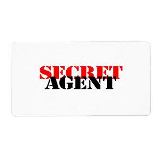 Secret Agent Shipping Label