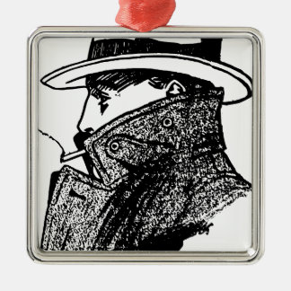 Secret Agent Metal Ornament