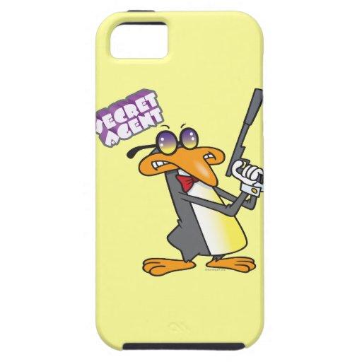 secret agent penguin cartoon character iPhone 5 cases
