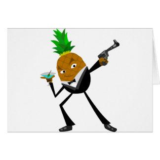 Secret Agent Pineapple Greeting Cards