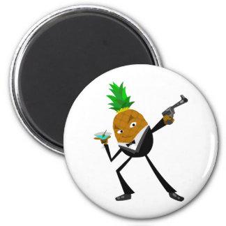 Secret Agent Pineapple Magnet