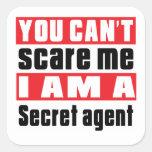 Secret agent scare designs square sticker