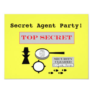 spy party invitations zazzle