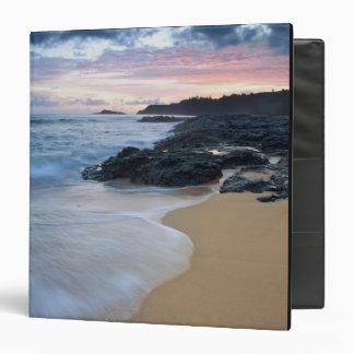 Secret Beach at dawn 3 Ring Binder