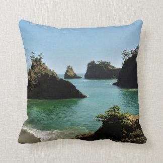 Secret Beach, Boardman State Park, Oregon, USA Throw Pillow